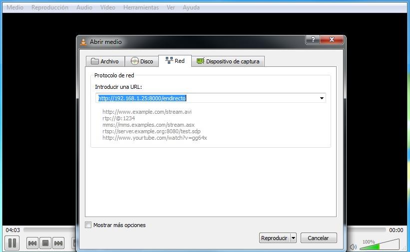 Abrir URL Icecast con Videolan - Si tienes problemas para sintonizarnos...